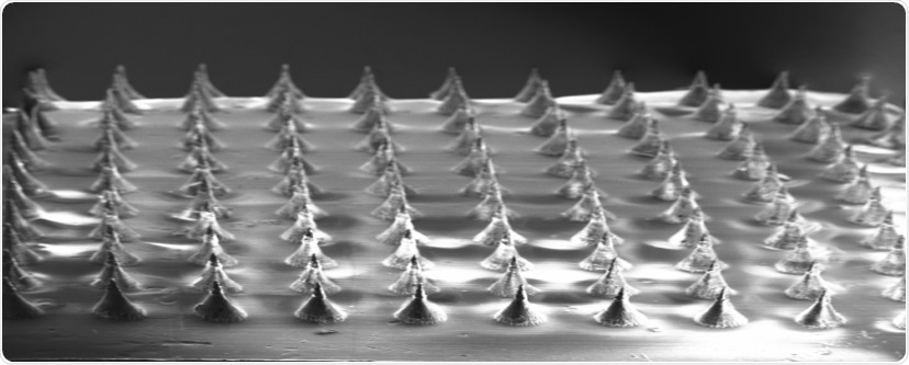 Newly developed biodegradable microneedles deliver genes into the skin
