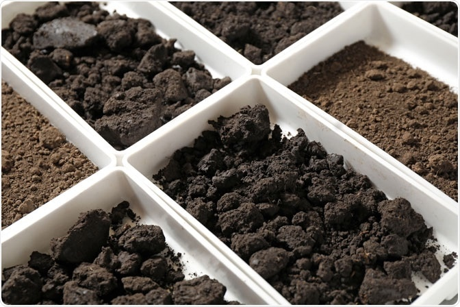 Soil samples for classification.