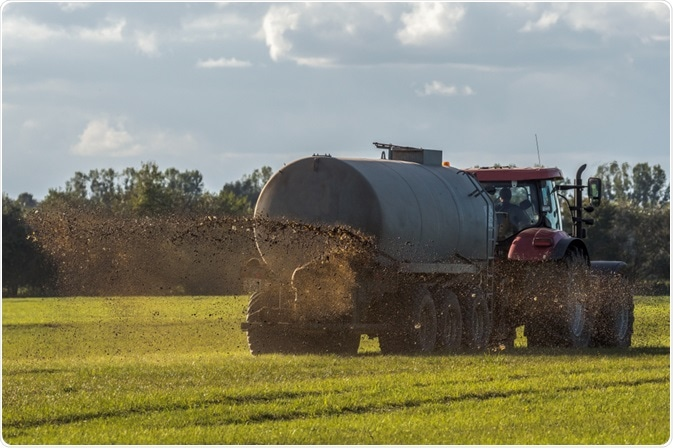 Manure being spread