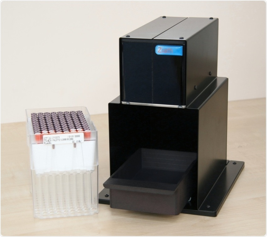 2D-barcoded NMR tube scanner