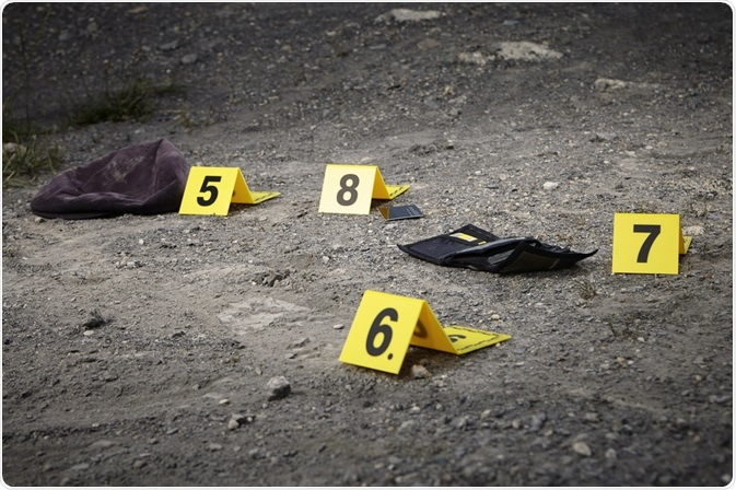 Trace evidence at a crime scene